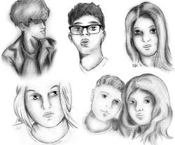 Sketch Portrait Batch