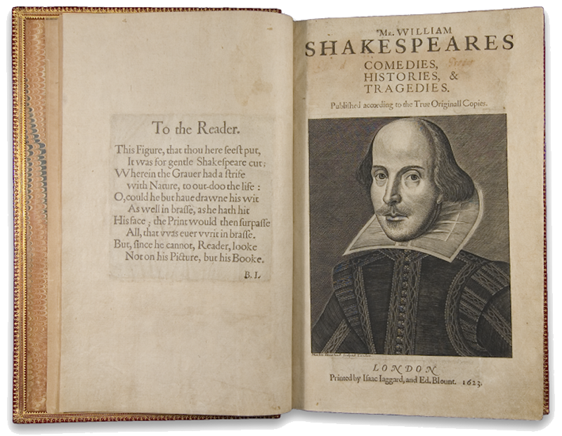First Folio of William Shakespeare's plays