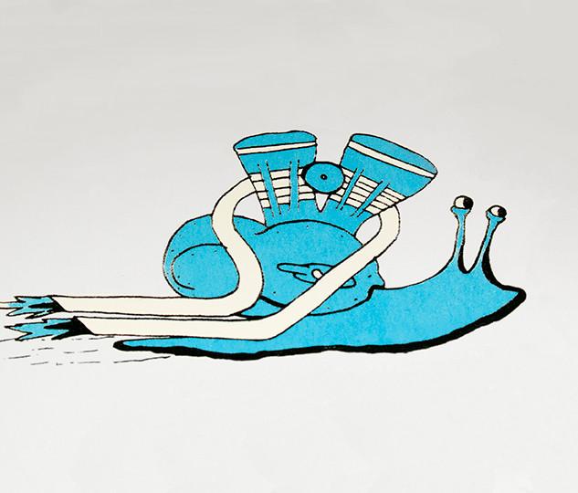 Turbo Snail Screenprint
