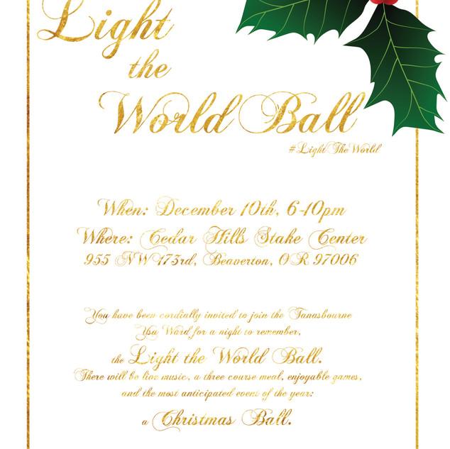 Light The World Ball event flyer