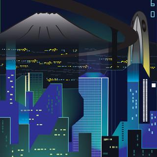 Future Japan postcard