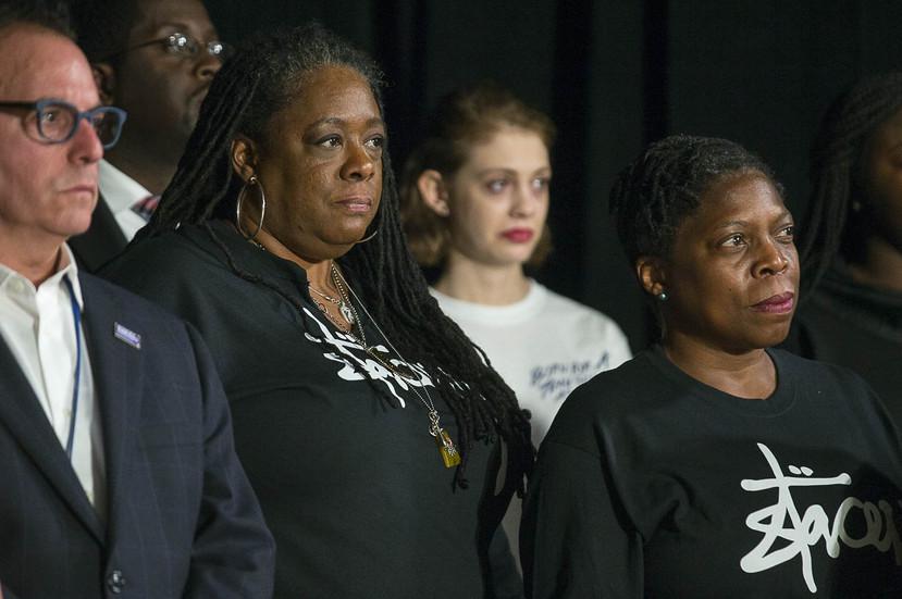 Stacey Abrams holding a press conference at Abrams Headquarters in Atlanta, Friday, Nov. 16, 2018 (Alyssa Pointer/Atlanta Journal-Constitution via AP)