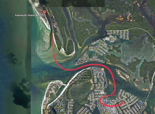 Keewaydin Island Map How to get to Keewaydin Island