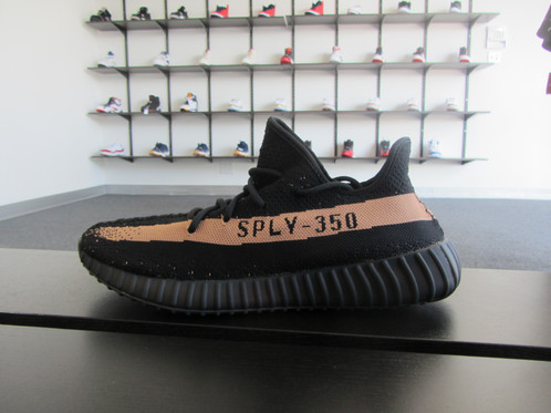 UK Adidas Yeezy Boost 350 v2 Black / Copper Metallic BY 1605