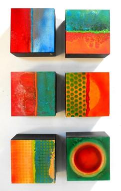 10 x 10 Cube Enamel on Board