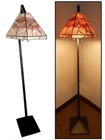 Salmon Quartzite Floor Lamp