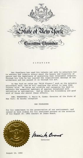 State of New York Citation
