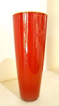 Cylinder Round Red Vase