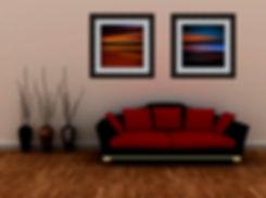 Abstract artwork installs