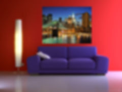 installing paintings in Calgary