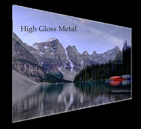 Gloss Metal print