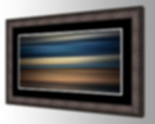 Matting and picture framing with glass