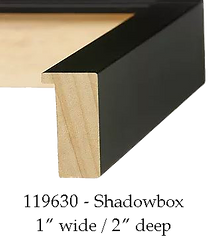 Deep shadowbox picture frame moulding