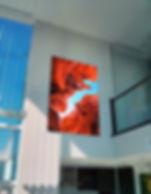 Calgary Artwork hanging