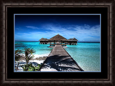bamboo framed photograph with a double mat