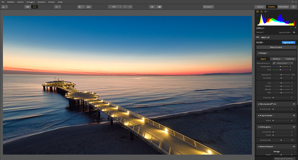 screenshot of Luminar 3 after installation