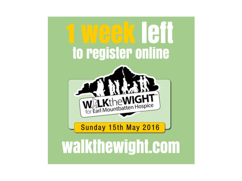 Online registrations close a week on Sunday!
