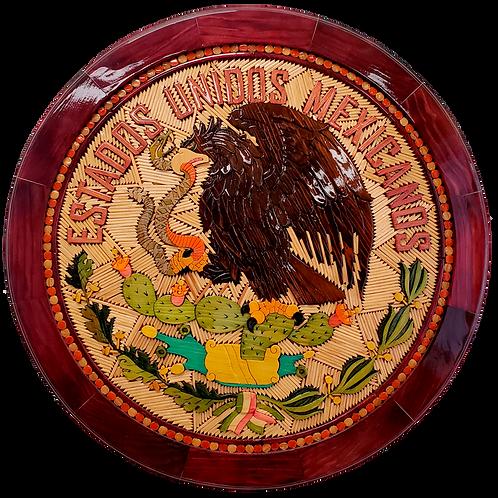 Escudo de México de madera