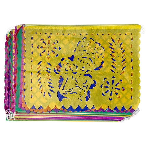 Papel y plástico picado colorido