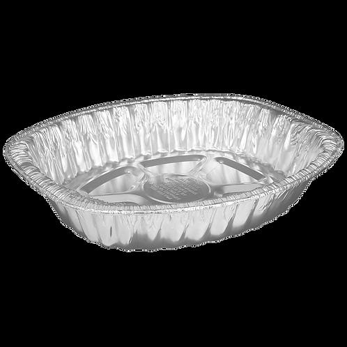 Charola de aluminio ovalada