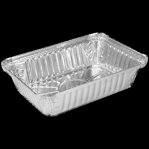 Charola de aluminio rectangular