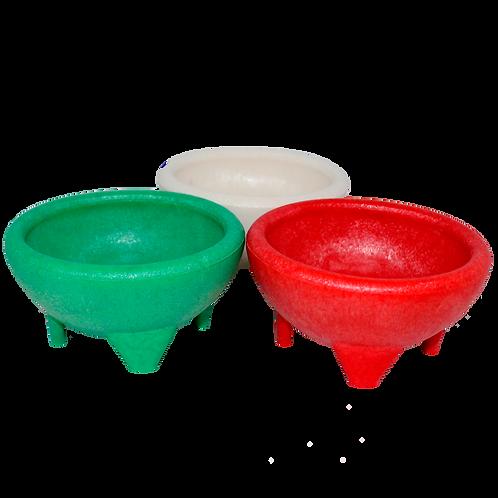 Molcajete para salsa tricolor