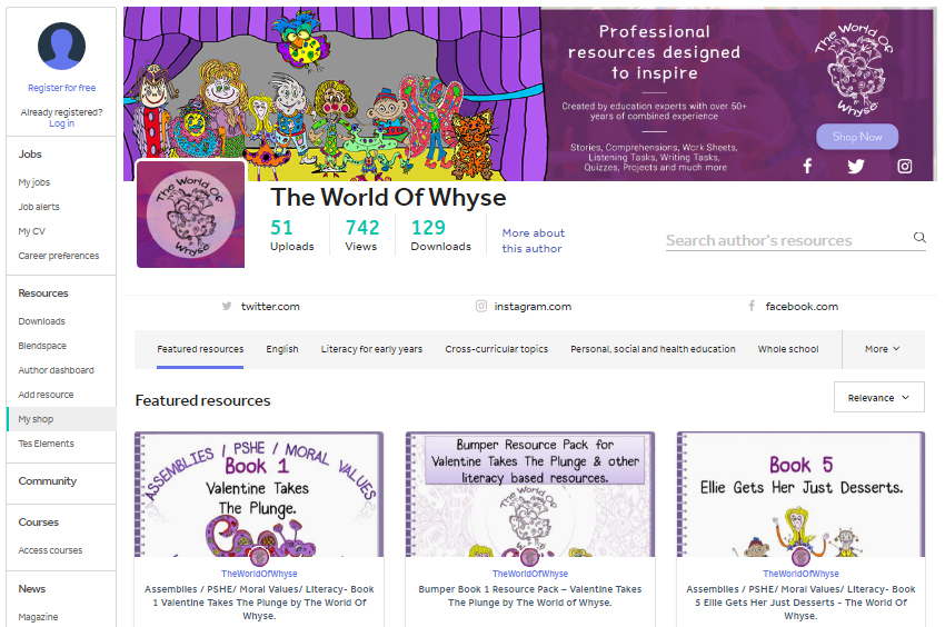 The World of Whyse TES shop