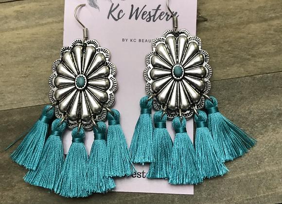 Concho tassel earrings