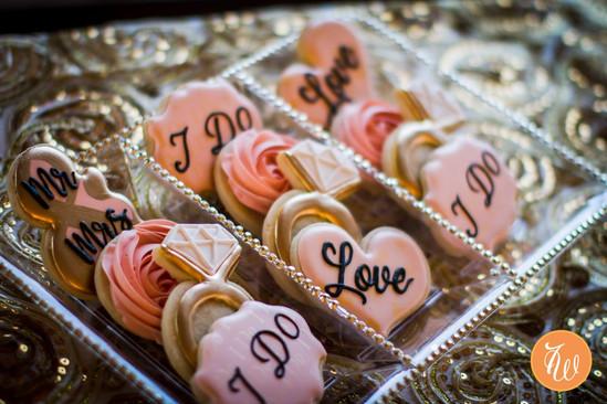 Desginer wedding cookies