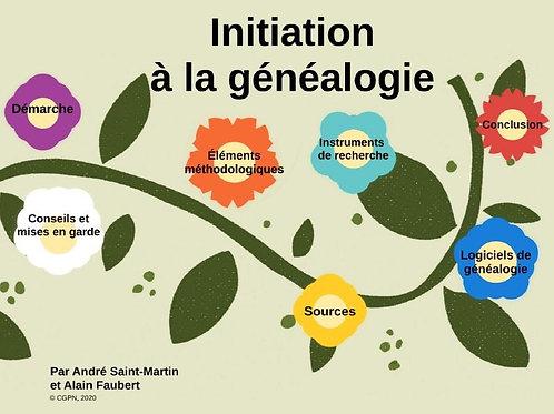 Atelier d'initiation à la généalogie - prix membres