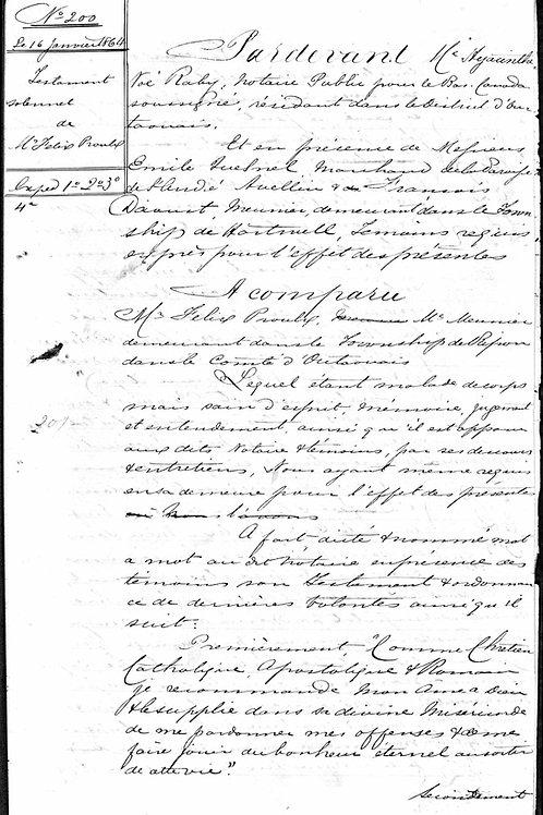 Recherche d'un acte notarié