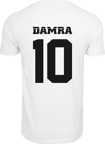 Men T-Shirt Damra Back 10 White