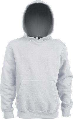 Kids Contrast Hooded Sweatshirt White/Fine Grey