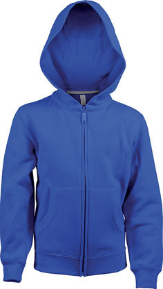 Kids Full Zip Hooded Sweatshirt B Royal Blue