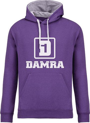 Men Contrast Hoody D Purple