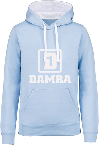 Men Contrast Hoody D Sky Blue