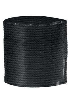 Elastic Armband With Label Holder Black