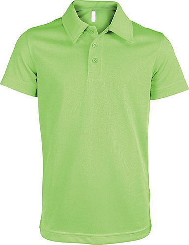 Kids Short-Sleeved Polo Shirt Lime