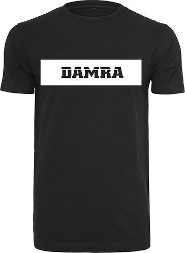 Men T-Shirt Background Long WHT black