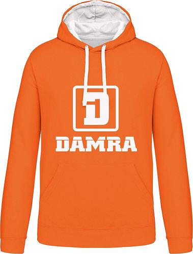Men Contrast Hoody D Orange