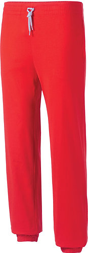 Kids Lightweight Cotton Tracksuit Bottoms Red