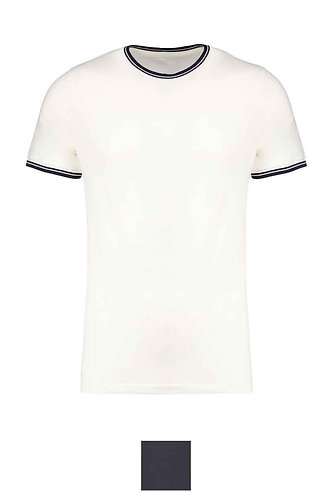 Men Piqué Crew Neck T-Shirt