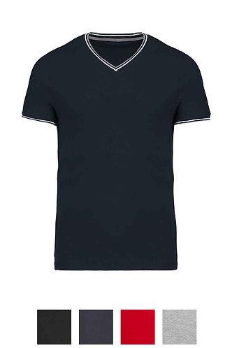 Men Piqué  V-Neck T-Shirt