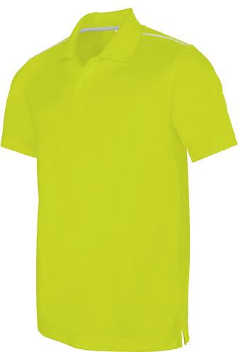 Men Short Sleeved Polo Shirt Lime
