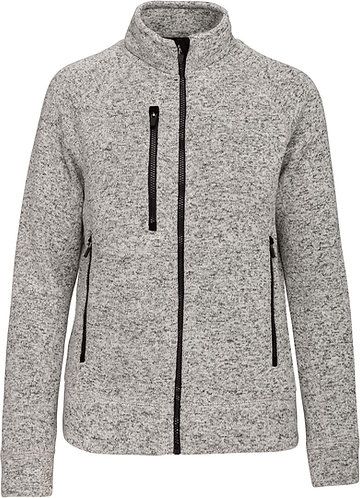 Women Full Zip heather Jacket