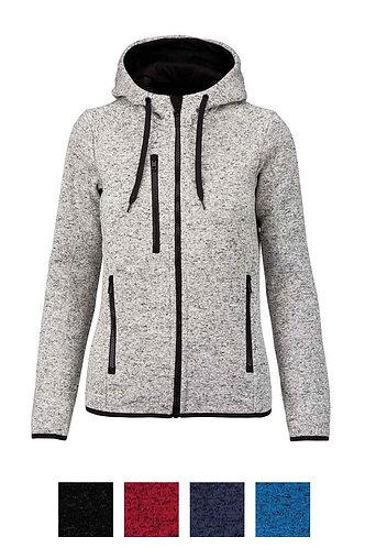 Women Heather Hooded Jacket