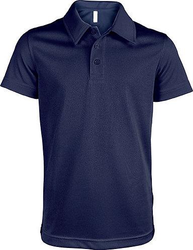 Kids Short-Sleeved Polo Shirt Navy