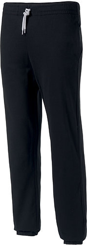 Kids Lightweight Cotton Tracksuit Bottoms Black