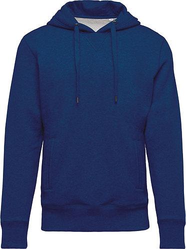 Men Organic Hooded Sweatshirt Ocean Blue