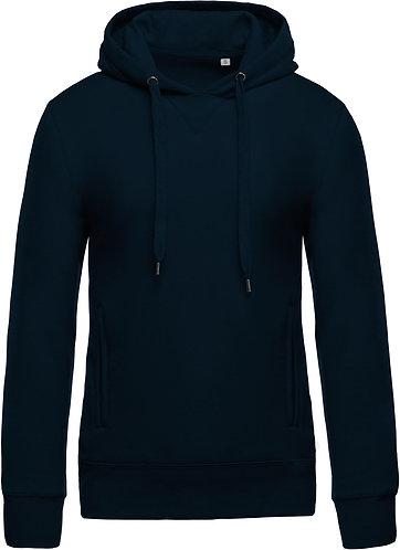 Men Organic Hooded Sweatshirt Navy